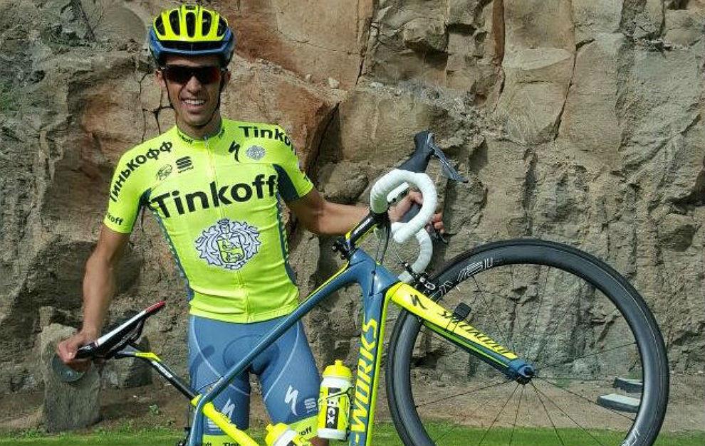 Alberto Contador de Tinkoff en la XXXVIII Vuelta a Burgos