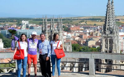 Gavazzi se viste de morado tras imponerse en la primera etapa de la Vuelta a Burgos
