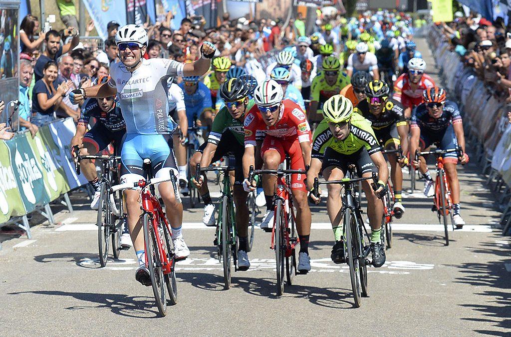 Moschetti sorprende al sprint y Aberasturi es el nuevo líder de la Vuelta a Burgos