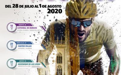El cartel de la XLII Vuelta a Burgos se fusiona con la catedral simbolizando el inicio del «nuevo» ciclismo
