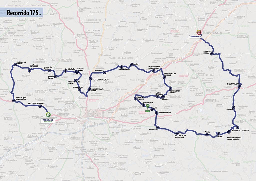 Mapa del recorrido de la segunda etapa