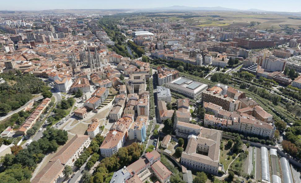 Vista aérea de la ciudad de Burgos