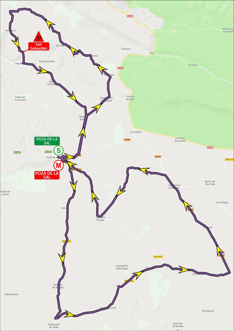 Mapa de la etapa dos