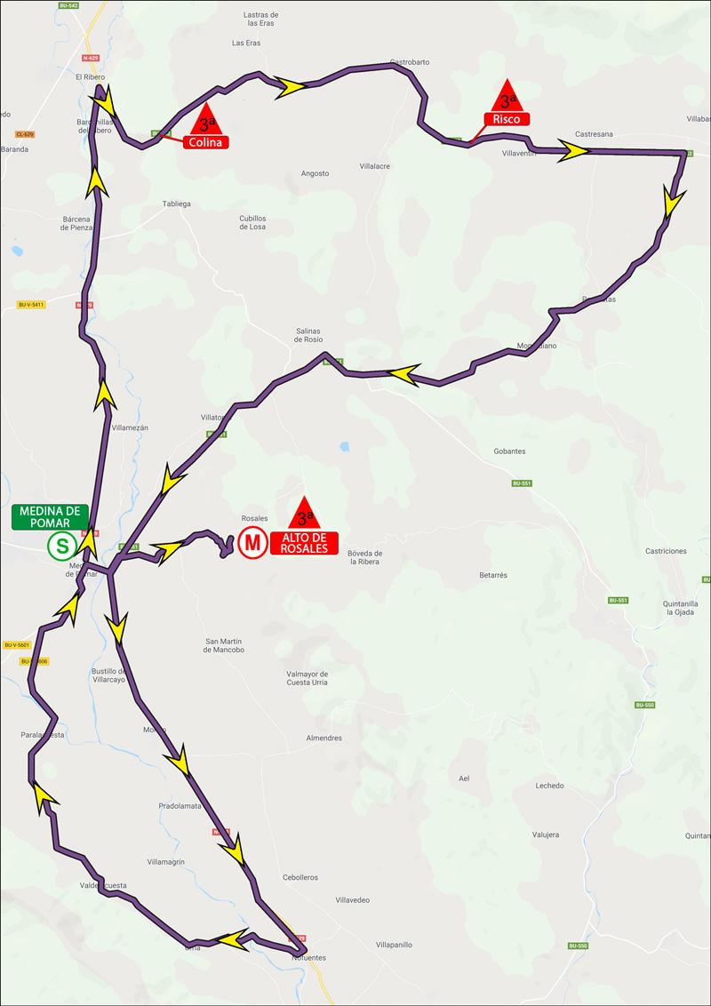 Mapa de la tercera etapa