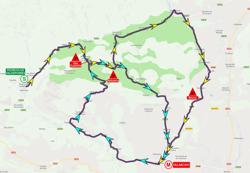 Mapa de la cuarta etapa