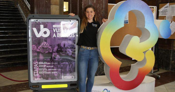 La ciclista arandina Sara Martín en la presentación