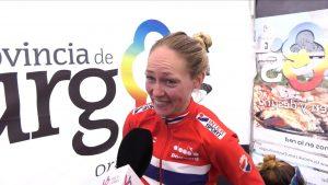 Stine Borgli, líder tras la tercera etapa.