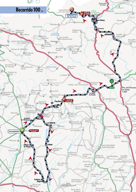 Mapa de la primera etapa